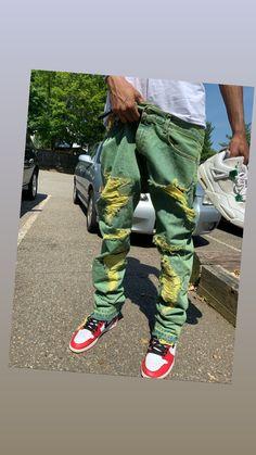 Cactus Jack, Cargo Pants Men, Painted Clothes, Colored Denim, Fashion Killa, Streetwear Fashion, Joggers, Street Wear, Sneaker