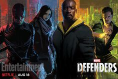 Marvel's The Defenders unite in colorful Comic-Con poster — and The Punisher strikes a pose in his - Netflix