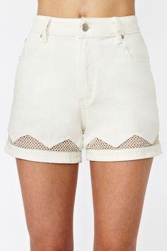 Virtue Denim Shorts .Fresh Outfit.