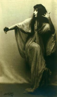 Arnold Genthe- Ruth St. Denis in Legend of the Sun Goddess from Omika, 1913