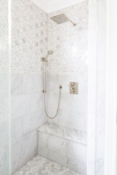 marble shower | Natalie Clayman Interior Design