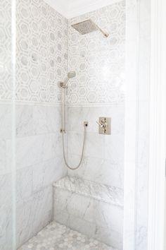marble shower   Natalie Clayman Interior Design