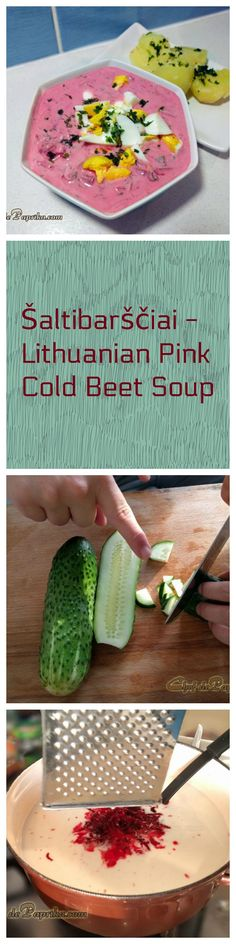 Šaltibarščiai – Lithuanian Pink Cold Beet Soup |  Chef  dePaprika   Šaltibarščiai – Lithuanian Pink Cold Beet Soup | Foodie recipes & blog with a dash of … Paprika