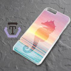 Sea Horse The Ocean Sillohuette iPhone 6 Plus|iPhone 6S Plus Black Case