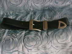 """schöner schwarzer Ledergürtel"""" 80er von MajaSt auf DaWanda.com"""