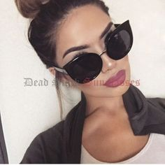 2659e6aeaea4 Oversized Round Cat Eye Sunglasses Black Womens Large Big HUGE XL XXL  Circle for sale online