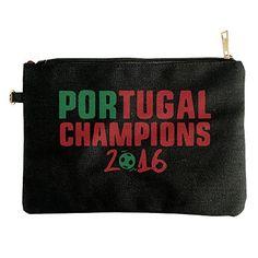 Portugal Champions Euro 2016 Canvas Pouch Bag -- Visit the image link more details.