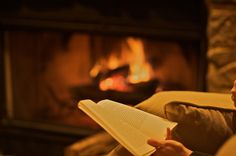 cozy fire and a good book....priceless