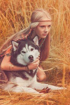 siberian husky SEMARGL STORM with POLINA | photo by Yulia Lebedeva