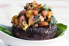 My Paleo Marin : Spinach & Pecan Stuffed Mushrooms