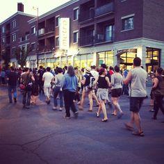 Rue Laurier #montreal #igersmontreal #casseroles contre la #loi78 #igersquebec #igerscanada #Quebec #casserolesQuebec #polqc #ggi
