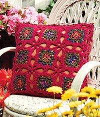 free pattern Confetti Stars Pillow Cushion.