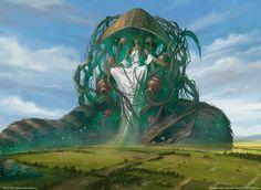 Magic the Gathering, Gods of Theros: Karametra, God of the Harvest, by Eric Deschamps