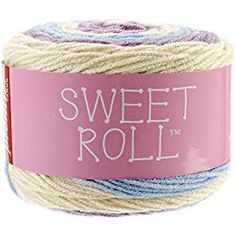 Premier Sweet Roll Yarn in Gelato. Sweet Roll combines 3 colors in each ball. The yarn is designed to create wide stripes in a regular repeat, creating all the Crochet Sock Pattern Free, Free Crochet, Crochet Patterns, Crochet Ideas, Irish Crochet, Crochet Projects, Free Pattern, Crochet Gifts, Crochet Yarn