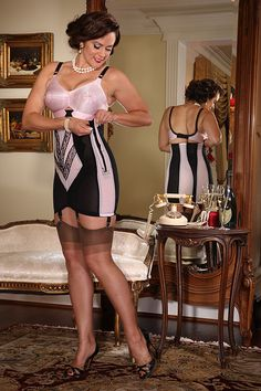 """Accentuate your curves for a perfect hourglass figure in our Rago 19"""" Zippered Girdle. The high waisted boned girdle is one of our longest lasting designs, who doesn't love something that will never..."""