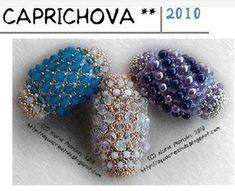 free bead tutorial Here is the link: http://aquacreativa.blogspot.com/2010/09/esquema-caprichova.html