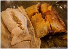 Tamales two ways: Green Chile Chicken Tamales and Red Chile Pork Tamales; recipe adapted from Rick Bayless' 'Mexico, One Plate at a Time'. #tamales #RickBayless #Bayless