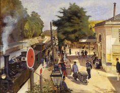 Edouard Dantan (France, 1848-1897) – La Station de Saint-Cloud (1880) Musée des Avelines, Saint-Cloud (France)