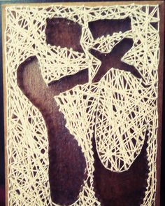 Handmade by me.. String art.  Pointe shoes.. Ballet