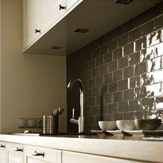 .Half Tile Dark antracite donkergrijs 7,5 x 15 cm 50e pm2