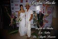 Ramo de Novia, con aplicacion en el Vestido y Maniquies. Para desfile de Modas de la Diseñadora  Angela Rosario en los Cabos BCS