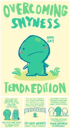 OMOcat, who's done some cool prints and fan merchandise in the past, has cooked up this little Overcoming Shyness book for the Tenda tribe. How To Overcome Shyness, Overcoming Shyness, Super Nintendo, Saga, Mother 3, Mother Games, Funny Quotes, Funny Memes, Humor Quotes