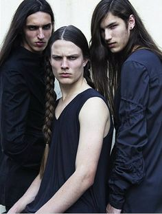This just made me giggle..  Long haired men