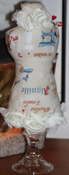 Dressmaker Form Pin Cushion Note Holder or Jewelry by SherisShoppe, $25.00