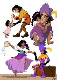 Clopin and Esmeralda