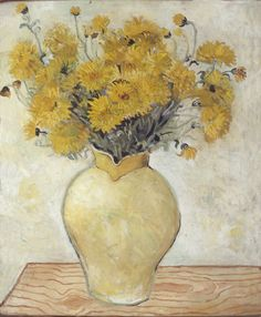 """""""Yellow Chrysanthemums"""" by Christopher Wood, 1925 (oil on canvas)"""