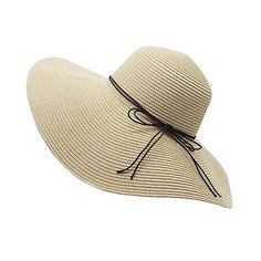 YUUVE Ladies Summer Straw Hat Foldable Beach Cap Wide Brim Large... (£15) ❤ liked on Polyvore featuring accessories, hats, summer floppy hat, wide brim fedora hat, floppy sun hat, fedora hat and straw beach hat