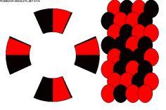 Strings: 8 Colors: 2 -  BRACELET - KUMIHIMO DISK - PATTERN K734 - friendship-bracelets.net