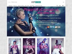 Want a fun looking #websitedesign? Pop Zone is a great looking box styled #ecommerce #website. At an affordable price with great features like PayPal integration, #socialmedia functionality and e-newsletter subscriptions.