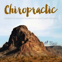 ⛰ Establish a rock-solid foundation of good naturally. Chiropractic Wellness, Health Problems, Nervous System, Health Care, Foundation, Rock, Nature, Naturaleza, Physiology