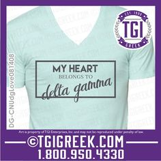 TGI Greek - Delta Gamma - Sorority Pr - Greek T-shirts - Bid Day  #tgigreek #deltagamma #bidday
