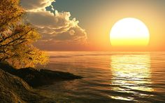 Magical Sun setting