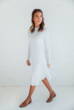 Lucy Dress in Grey   Clad & Cloth Apparel – cladandcloth