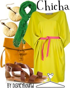 Chicha by Disney Bound Fashion Disney Outfut Emperor's new groove Disney Character Outfits, Disney Princess Outfits, Disney Bound Outfits, Disneyland Outfits, Disney Characters, Up Halloween Costumes, Cute Costumes, Maternity Halloween, Estilo Disney