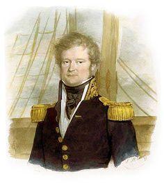 3- Portrait de Dumont d'Urville.- § DUMONT D'URVILLE: Il poursuit ses études au collège de Bayeux puis est bon élève au lycée de Caen. A 17 ans il s'engage dans la Marine et après avoir réussi avec succès un sévère examen, il fut nommé aspirant de 1° classe en novembre 1807. A 20 ans (en 1810), il se présenta à l'examen de l'Ecole Polytechnique, mais son âge trop avancé ne permit qu'il y fut reçu. Il débuta sa carrière dans la Marine à Brest en 1811 sur le vaisseau l'Aquilon, puis il passa…