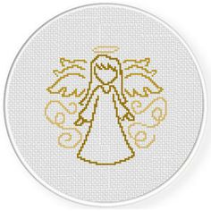 Angelic Doodle Cross Stitch Pattern, You can cause very specific habits for materials with cross stitch. Cross stitch designs can almost amaze you. Cross stitch novices may make the designs they need without difficulty. Cross Stitch Angels, Xmas Cross Stitch, Just Cross Stitch, Simple Cross Stitch, Modern Cross Stitch, Cross Stitching, Cross Stitch Embroidery, Embroidery Patterns, Hand Embroidery