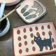 鯵ぽたユミタ (@ajipota_ymt) on Instagram photo 28/05/2017 21:57:32 テスト兼本番 #ceramic#ajipotaya#artwork#鉄絵#呉須#ironpainting#鯵ぽた屋 Ceramic Design, Ceramic Decor, Kagoshima, Clay Bowl, Bowls, Cups, Plates, Instagram, Inspiration