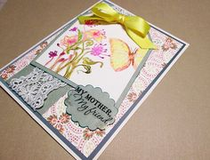 My MOTHER My FRIEND handmade card hand by PrettyPaperGreetings