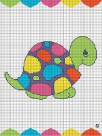 COLORFUL TURTLE CROCHET BABY AFGHAN BLANKET PATTERN GRAPH