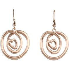 Breil Milano Curled Knot Rose Gold Earrings ❤ liked on Polyvore