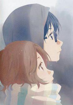 Kousei, Tsubaki, raining; Your Lie in April