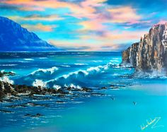 Fushion Sea Scape New Art, Sea, Mountains, Nature, Travel, Naturaleza, Viajes, Ocean, Trips