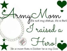 Army Mom of two Military Mom, Army Mom, Us Army, Proud Of My Son, I Love My Son, Airborne Army, Army Tattoos, Army Family, Police Gifts