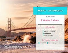 Limited by the Pacific Ocean and San Francisco Bay, the city has been favored by a Mediterranean climate that makes it an ideal year-round destination. And you can not miss this offer #miyastravelsusa #vacation #phoenix #sanfrancisco #marketing #business #branding #socialmedia #advertising #design #entrepreneur #pr #networking #sales #graphicdesign #publicidade #success #smallbusiness #work #travel #trip #traveling