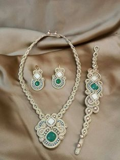 conjunto Ribbon Jewelry, Bead Embroidery Jewelry, Beaded Jewelry, Handmade Jewelry, Boho Jewelry, Soutache Pendant, Soutache Necklace, Girls Jewelry, Jewelry Sets