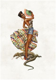 African inspired pin-up art. African digital artist Jepchumba recreates Pin Up ladies with the heavy influence of African culture. Illustration Agency, African American Artwork, Black Pin Up, Pin Up Posters, South African Artists, Afro Art, Black Women Art, Dope Art, Art Graphique